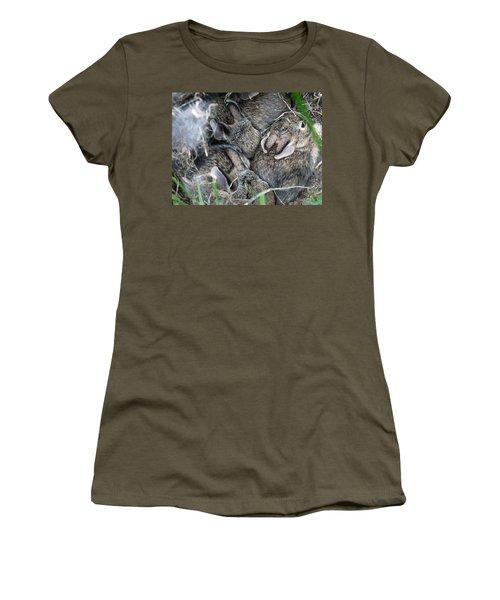 Nestled In Their Den Women's T-Shirt