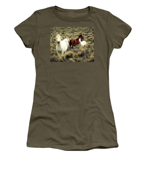 Nevada Wild Horses Women's T-Shirt (Athletic Fit)