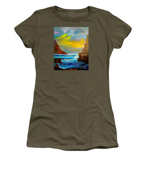 New Day In Paradise Women's T-Shirt (Athletic Fit)