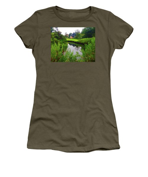 New England House And Stream Women's T-Shirt
