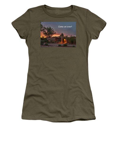 Women's T-Shirt featuring the photograph New Neighbors Card by Dan McManus