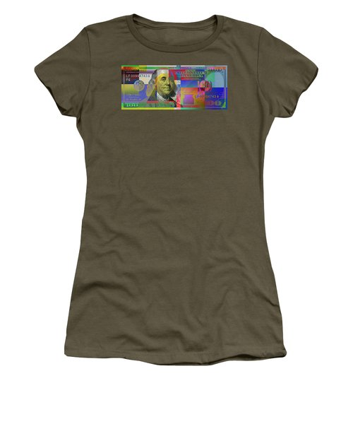 New Pop-colorized One Hundred Us Dollar Bill Women's T-Shirt