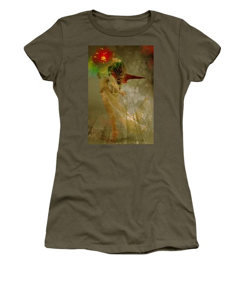 Women's T-Shirt featuring the digital art New York, Red Wing by Richard Ricci