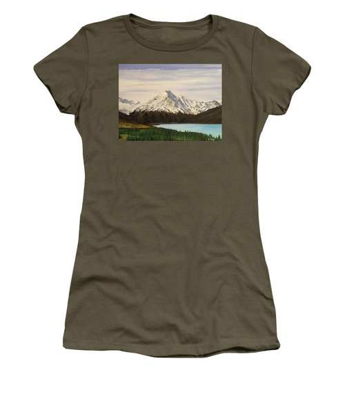 Women's T-Shirt featuring the painting New Zealand Lake by Kevin Daly