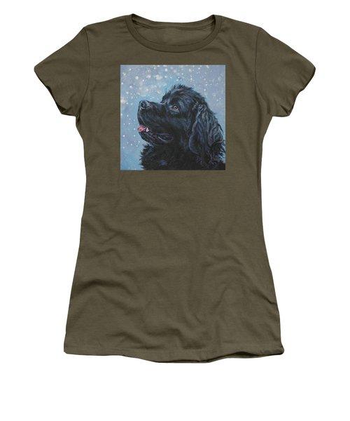 Newfoundland In Snow Women's T-Shirt