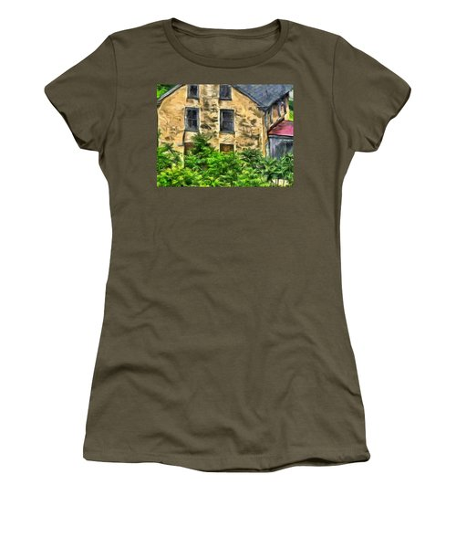 Women's T-Shirt (Junior Cut) featuring the mixed media Niccolo by Trish Tritz
