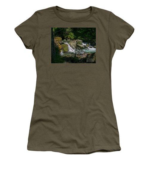 Nickel Creek 0715 Women's T-Shirt (Junior Cut) by Chuck Flewelling
