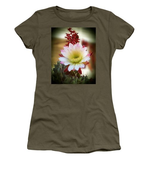 Women's T-Shirt (Junior Cut) featuring the photograph Night-blooming Cereus 2 by Marilyn Smith