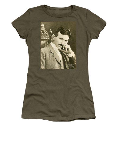 Nikola Tesla, Serbian-american Inventor Women's T-Shirt