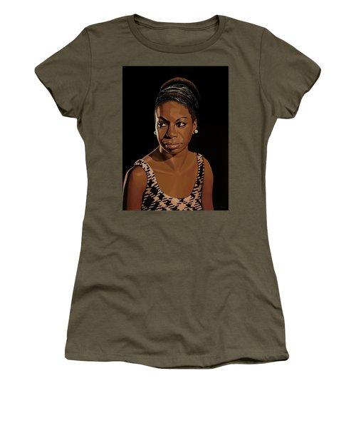 Nina Simone Painting 2 Women's T-Shirt (Athletic Fit)