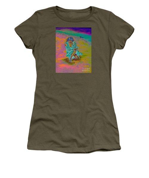 Women's T-Shirt (Junior Cut) featuring the painting No Surrender by Loredana Messina