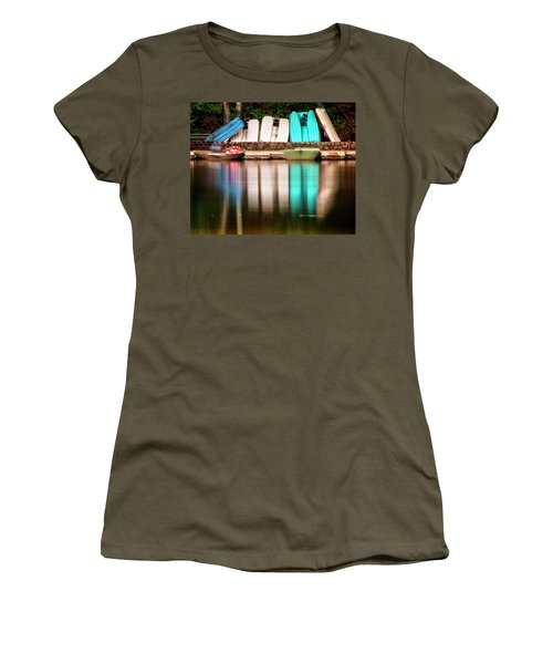 Women's T-Shirt (Athletic Fit) featuring the photograph No Takers by Alan Raasch