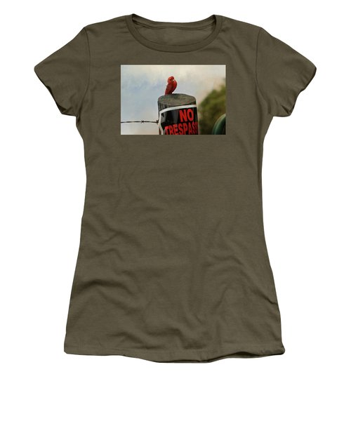 No Trespassing Women's T-Shirt (Athletic Fit)