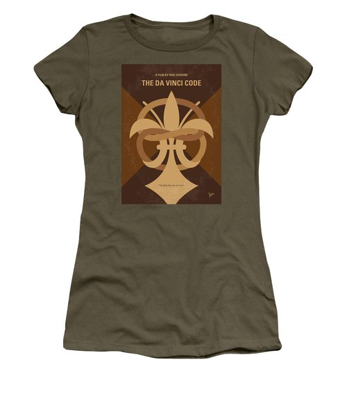 No548 My Da Vinci Code Minimal Movie Poster Women's T-Shirt (Athletic Fit)