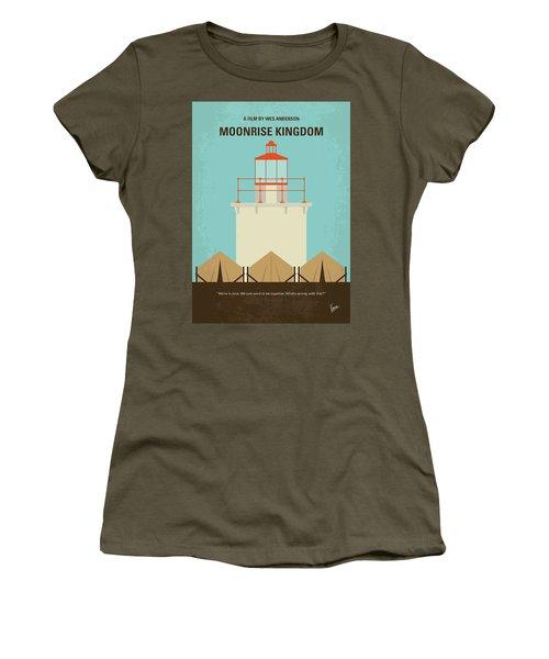 No760 My Moonrise Kingdom Minimal Movie Poster Women's T-Shirt