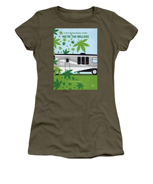 Women's T-Shirt (Junior Cut) featuring the digital art No763 My We Are The Millers Minimal Movie Poster by Chungkong Art
