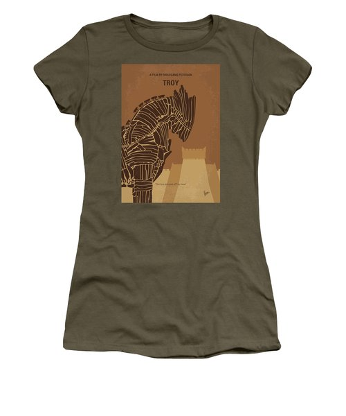 No862 My Troy Minimal Movie Poster Women's T-Shirt (Athletic Fit)