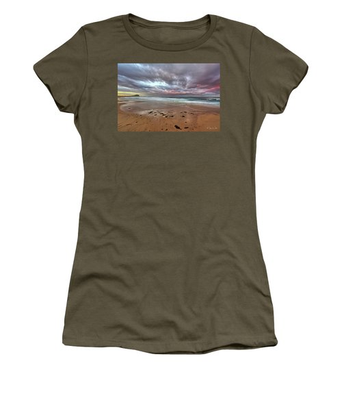 Nobbys Beach At Sunset Women's T-Shirt (Athletic Fit)