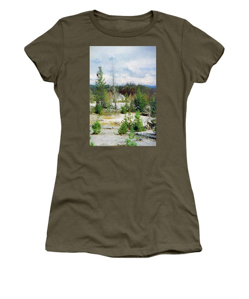 Norris Geyser Basin, Yellowstone National Park Women's T-Shirt (Athletic Fit)