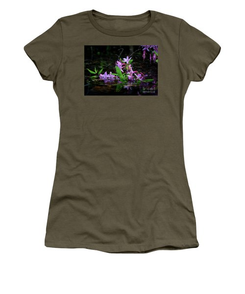 Women's T-Shirt (Athletic Fit) featuring the photograph Norris Lake Floral by Douglas Stucky