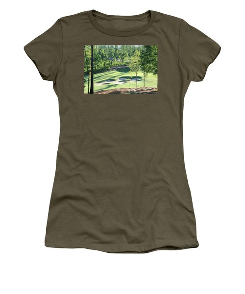 Women's T-Shirt featuring the photograph North Carolina Golf Course 12th Hole by Marian Palucci-Lonzetta