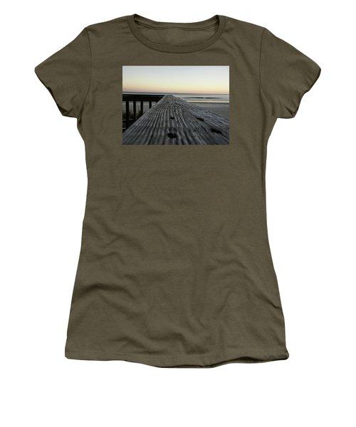 Women's T-Shirt featuring the photograph North Myrtle Beach Evening by Robert Knight