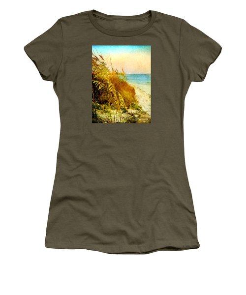 Women's T-Shirt (Junior Cut) featuring the digital art North Of River by Linda Olsen
