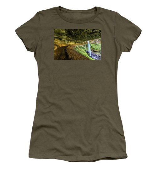 Women's T-Shirt featuring the photograph North Silver Falls Oregon by Pierre Leclerc Photography