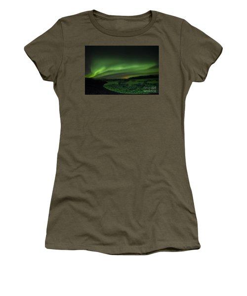 Women's T-Shirt (Junior Cut) featuring the photograph Northern Lights 3 by Mariusz Czajkowski
