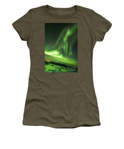 Women's T-Shirt (Junior Cut) featuring the photograph Northern Lights 5 by Mariusz Czajkowski