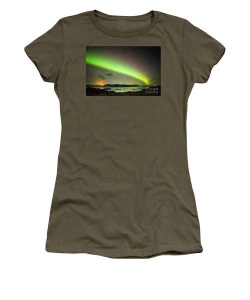 Women's T-Shirt (Junior Cut) featuring the photograph Northern Lights 6 by Mariusz Czajkowski