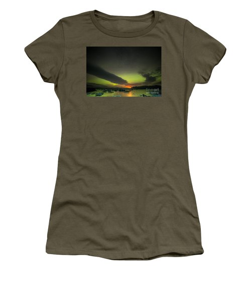 Women's T-Shirt (Junior Cut) featuring the photograph Northern Lights  by Mariusz Czajkowski