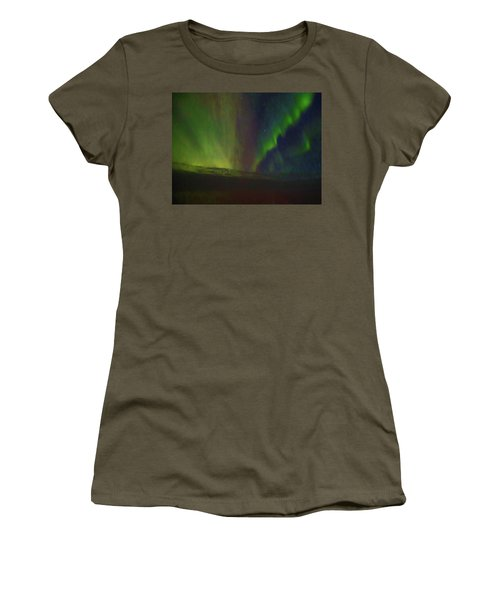 Northern Lights Or Auora Borealis Women's T-Shirt (Junior Cut) by Allan Levin