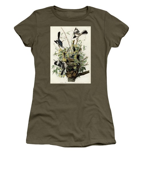 Northern Mockingbird Women's T-Shirt (Athletic Fit)