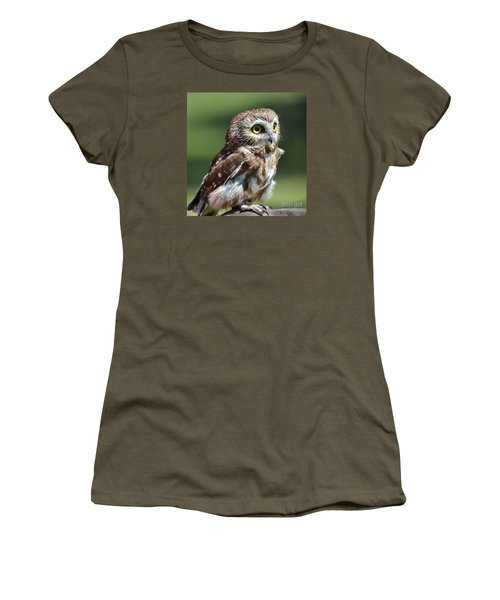 Northern Saw Whet Owl Women's T-Shirt (Athletic Fit)