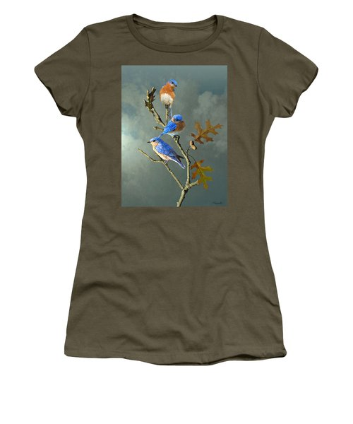 Nothing But Bluebirds Women's T-Shirt (Athletic Fit)