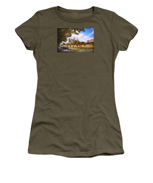 Notre Dame Women's T-Shirt (Junior Cut) by John Rivera