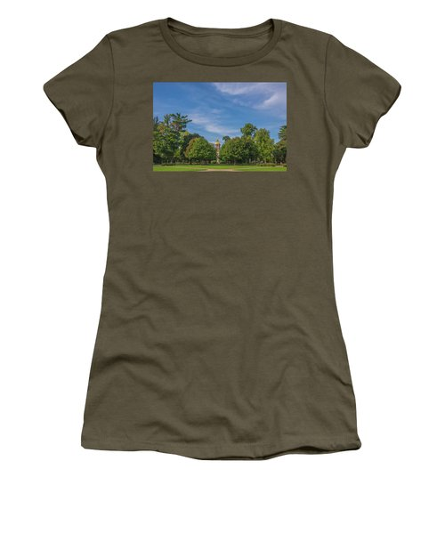 Women's T-Shirt (Athletic Fit) featuring the photograph Notre Dame University 6 by David Haskett