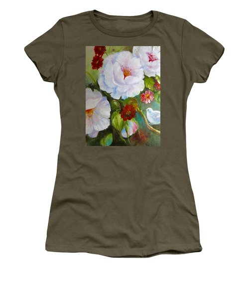 Women's T-Shirt (Junior Cut) featuring the painting Noubliable  by Patricia Schneider Mitchell