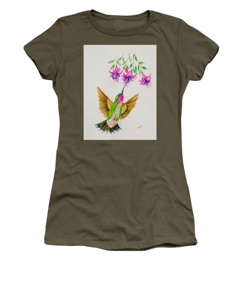 Women's T-Shirt (Junior Cut) featuring the painting Nourishment  by Katherine Young-Beck