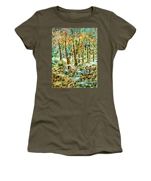 Women's T-Shirt (Junior Cut) featuring the painting November Morn by Alfred Motzer