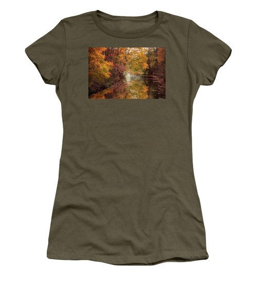 Women's T-Shirt featuring the photograph November Reflections by Jessica Jenney