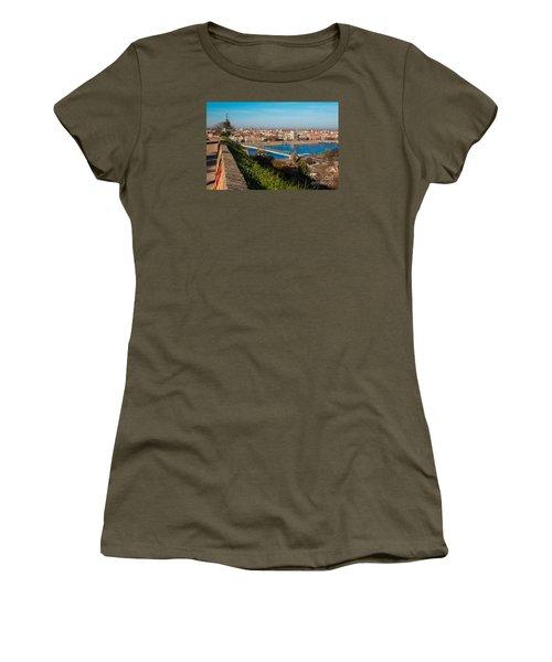 Women's T-Shirt (Junior Cut) featuring the photograph Novi Sad Vojvodina View From Petrovaradin Fortress by Jivko Nakev