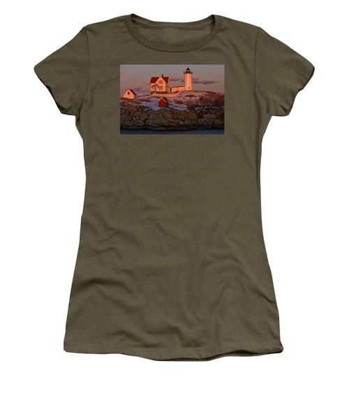 Nubble Light At Sunset Women's T-Shirt