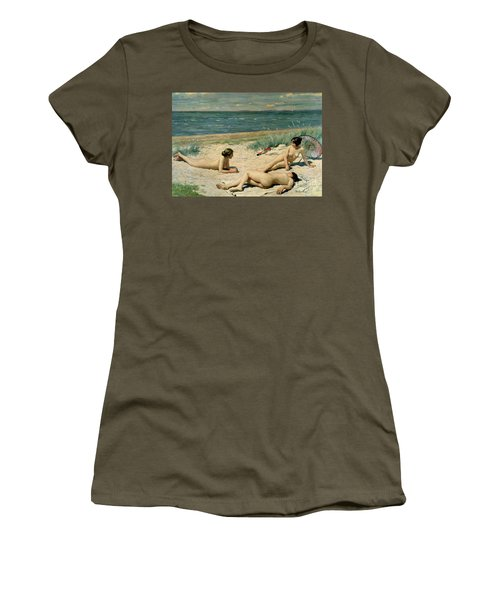 Nude Bathers On The Beach Women's T-Shirt