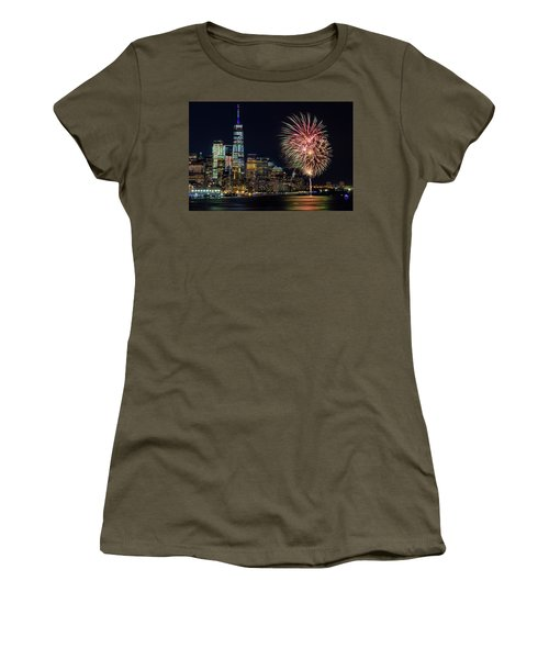 Women's T-Shirt (Athletic Fit) featuring the photograph Nyc World Trade Center Pride by Susan Candelario