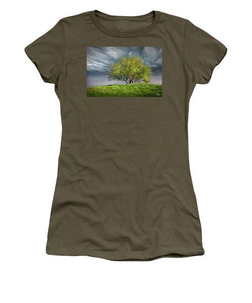 Oak Tree With Tire Swing Women's T-Shirt