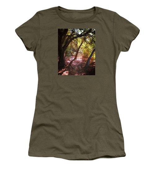 Women's T-Shirt (Junior Cut) featuring the photograph Oaken Woodland 2 by Timothy Bulone