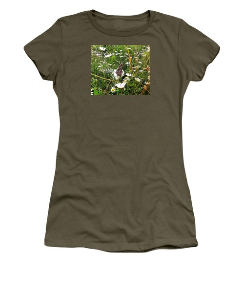 Obelix And Daisies  Women's T-Shirt (Junior Cut) by Vicky Tarcau