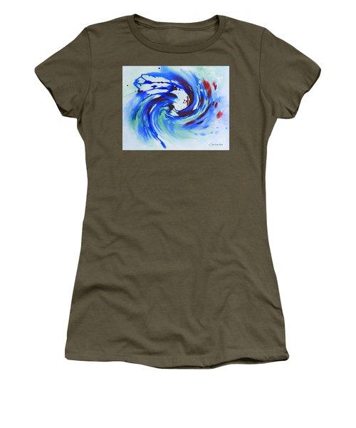 Ocean Wave Watercolor Women's T-Shirt